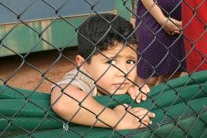 A child in immigration detention in Australia